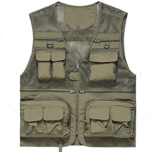 DAFREW Airsoft Tactical Vest 1 DAFREW Thin Vest Men's Outdoor Vests Casual Fishing Breathable Vests Summer Quick-Drying Vest (Color : Khaki, Size : L)