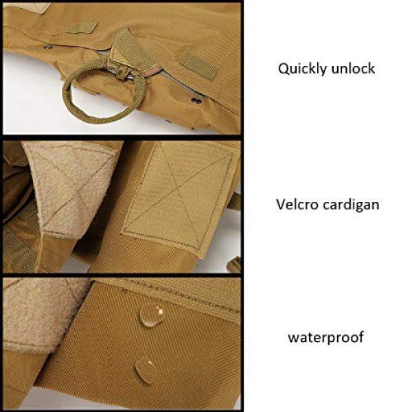 JFFLYIT Airsoft Tactical Vest 5 JFFLYIT Outdoor Sports Tactical Vest Wear Resistant Durable Combat Training Vest Breathable Adjustable CS Vest with Bag Khaki