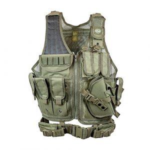 Valken Airsoft Tactical Vest 1 Valken Tactical Crossdraw Vest - Adult - Olive