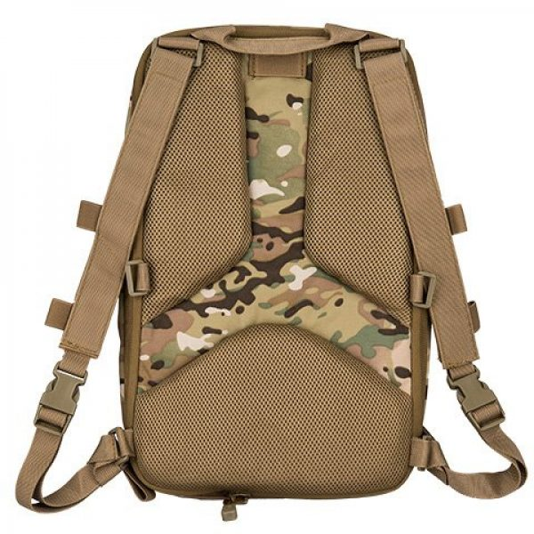 Lancer Tactical Airsoft Tactical Vest 6 Lancer Tactical 1000D Nylon QD Chest Rig and Backpack Combo (CAMO)