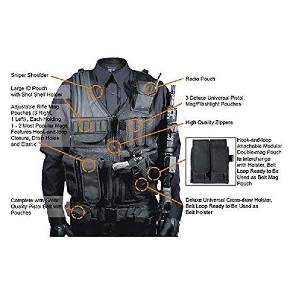 BGJ Airsoft Tactical Vest 5 BGJ Tactical Vest Military Combat Armor Vests Mens Tactical Hunting Vest Army Adjustable Armor Outdoor CS Training Vest Airsoft