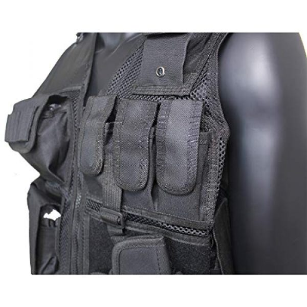Yoghourds Airsoft Tactical Vest 7 Yoghourds Adjustable Breathable Vest, Ultra-Light Tactical Vest for Men for Hunting/Fishing/CS Field Operations/Cosplay