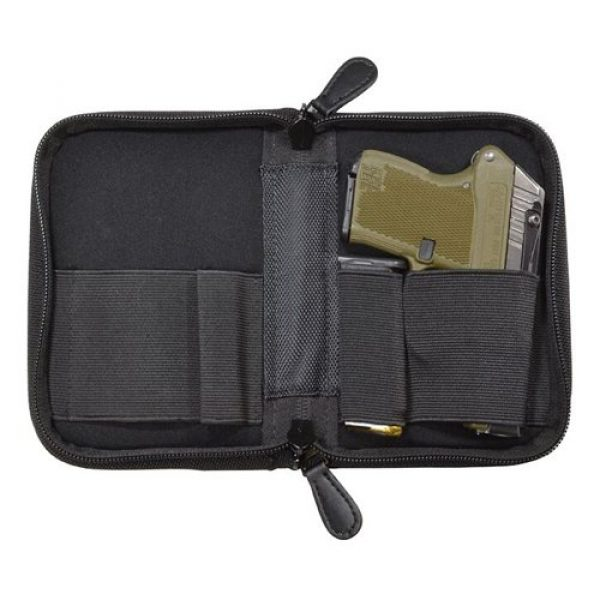 PS Products Pistol Case 1 PS Products Holster Mate Pistol Case Fits Small Frame Handguns, Black