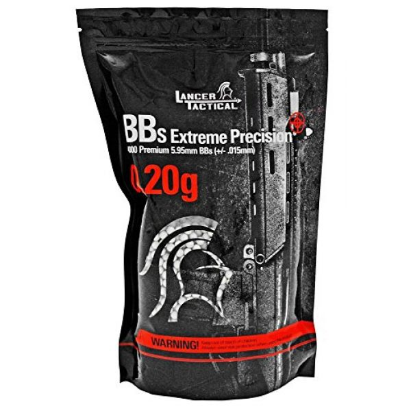 Lancer Tactical Airsoft BB 2 4,000-pc. Lancer Tactical Competition Grade .20g BB's