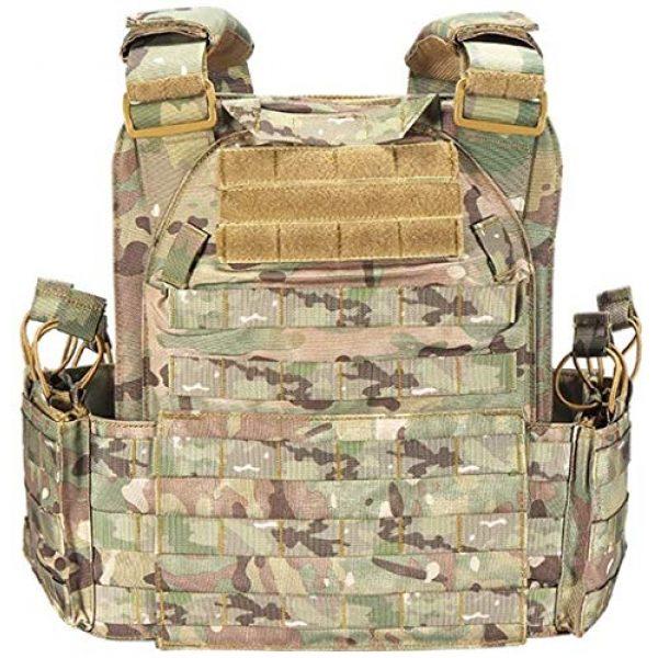 HAOWUTX Airsoft Tactical Vest 3 HAOWUTX Multipurpose Outdoor Tactical Vest Field Sports Tactical Equipment (Color : Upgradedcp)