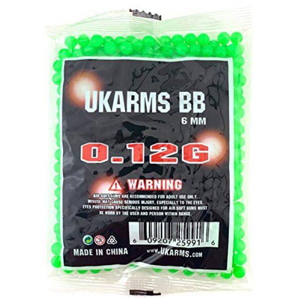 UKARMS Airsoft BB 4 UKArms BBTac 1000 Bag .12 Gram 6mm BBs For Airsoft Guns - 1 Bag of 1000 BBs