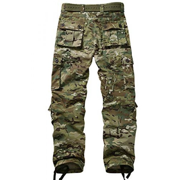 Hellmei Tactical Pant 2 Men's Tactical Pants with Multiple Pockets Men's Military Tactical Casual Camouflage Pants Hiking Pants