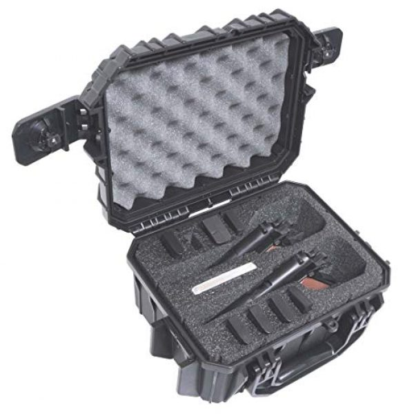 Case Club Pistol Case 1 Case Club 2 Pistol 8 Magazine Pre-Cut Waterproof Case with Silica Gel to Help Prevent Gun Rust