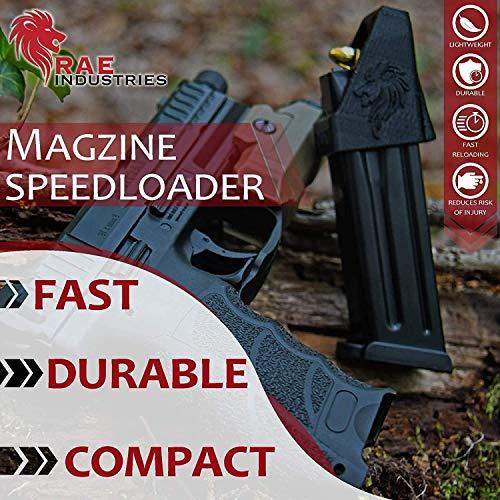 RAE Industries  4 RAEIND Magazine Loader for Shadow Systems MR920 Combat 9MM Black Frame Spiral Fluted Bronze Barrel Green Tritium NS 15RD