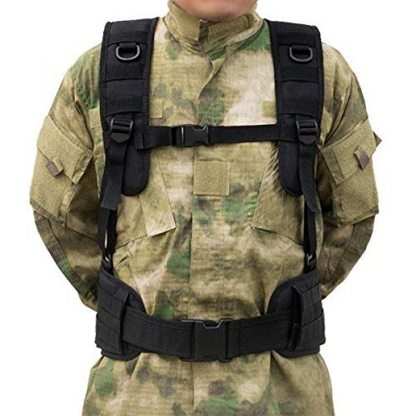 Shefure Airsoft Tactical Vest 4 Shefure Military Tactical Vest Chest Rig MOLLE Combat Waist Belt Men Army Cummerbunds Airsoft Paintball Equipment Outdoor Hunting Vest
