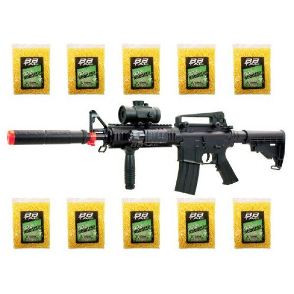 BBTac Airsoft Rifle 1 BBTac bt-m83+50000bb 250 fps lpeg full auto electric power airsoft gun with tactical accessories and 50000 ball bearing(Airsoft Gun)
