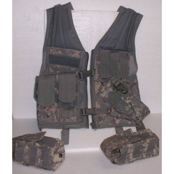 USA Military Surplus Airsoft Tactical Vest 1 Molle Chest Rig Platform Carrier Digital ACU Camo Tactical Load Carrier