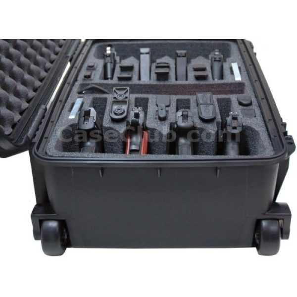 Case Club Pistol Case 4 Case Club 8 Pistol Pre-Cut Waterproof Case with 2 Silica Gel Canisters to Help Prevent Gun Rust
