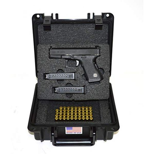 Quick Fire Cases Pistol Case 4 Quick Fire Cases QF300G2L Pistol Case, Black, Small