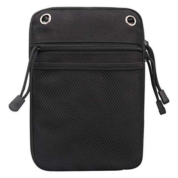 Kosibate Pistol Case 1 Kosibate Concealed Gun Pouch, Multipurpose Carry Pistol Holster Pack Waist Bag for Handgun with Belt Loops -Black