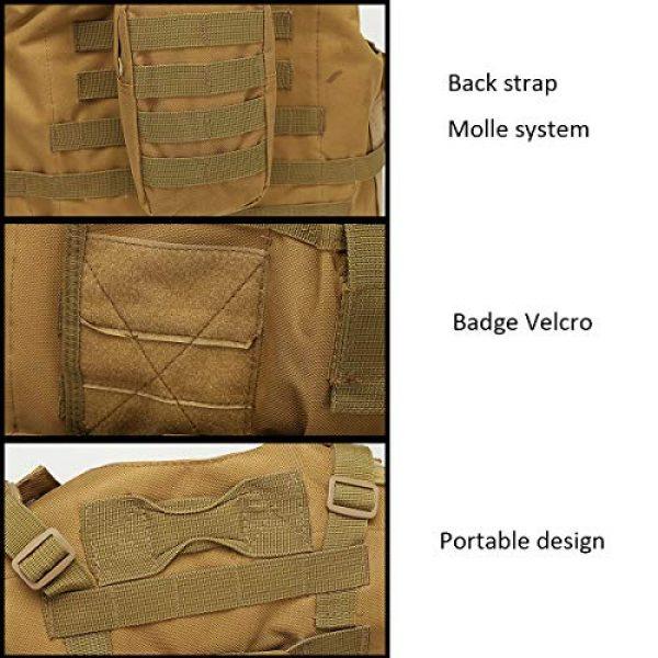 JFFLYIT Airsoft Tactical Vest 6 JFFLYIT Outdoor Sports Tactical Vest Wear Resistant Durable Combat Training Vest Breathable Adjustable CS Vest with Bag Khaki