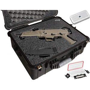 Case Club Pistol Case 1 Case Club CZ Scorpion EVO 3 S1 Pistol & S2 Pre-Cut Waterproof Pistol Case with Silica Gel to Help Prevent Gun Rust (Gen 2)