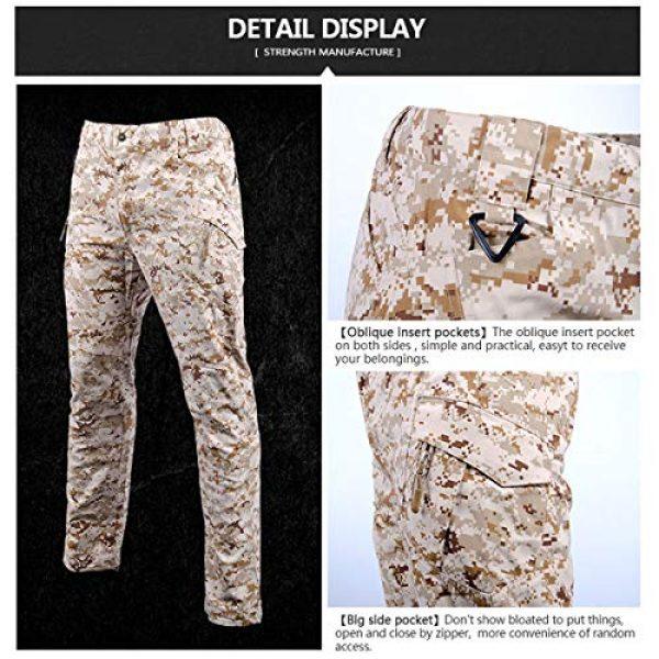 LANBAOSI Tactical Pant 4 Men's Tactical Military BDU Pants Combat Woodland Camo Outdoor Gear Trousers