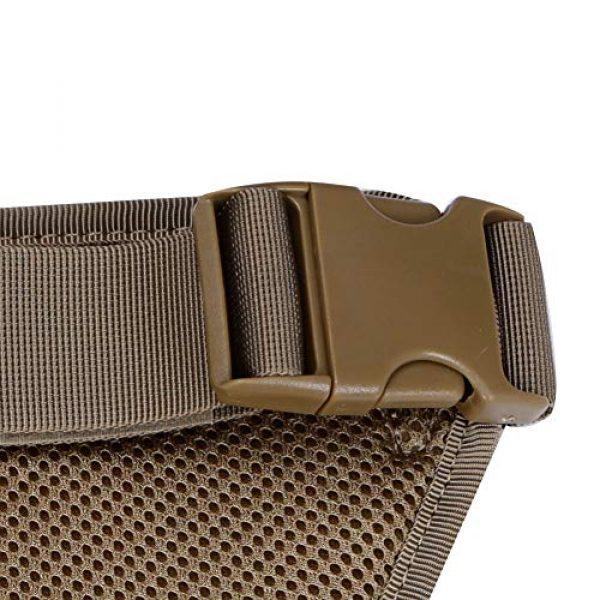DETECH Airsoft Tactical Vest 2 DETECH Molle Padded Modular Belt Sleeve Tactical Inner Belt Drop Leg Platform Panel, Hip Panel Laser Cutting PALS Combo