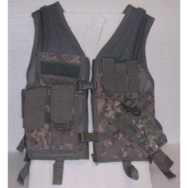 USA Military Surplus Airsoft Tactical Vest 4 Molle Chest Rig Platform Carrier Digital ACU Camo Tactical Load Carrier