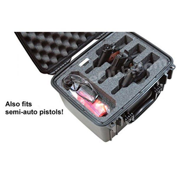 Case Club Pistol Case 5 Case Club Waterproof 3 Revolver/Semi-Auto Pre-Cut Case with Silica Gel to Help Prevent Gun Rust