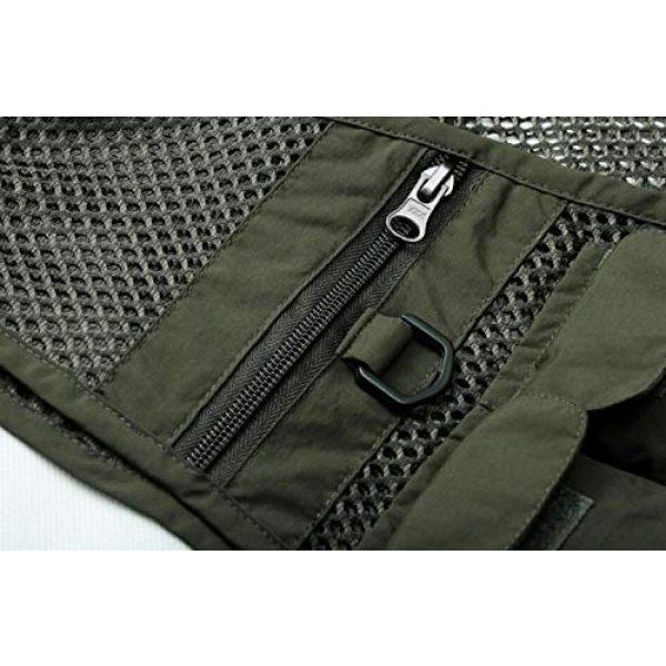 DAFREW Airsoft Tactical Vest 7 DAFREW Men's Vest Spring and Autumn Vest Multi-Pocket Convenient Vest Outdoor Fishing Vest (Color : Black, Size : XL)