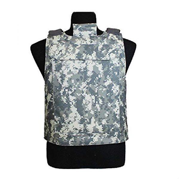 BGJ Airsoft Tactical Vest 4 BGJ Outdoor Tactical Vest Military Molle Armor Plate Waistcoat Airsoft Carrier Vest Camo Woodland Hunting Protection Combat CS Vest