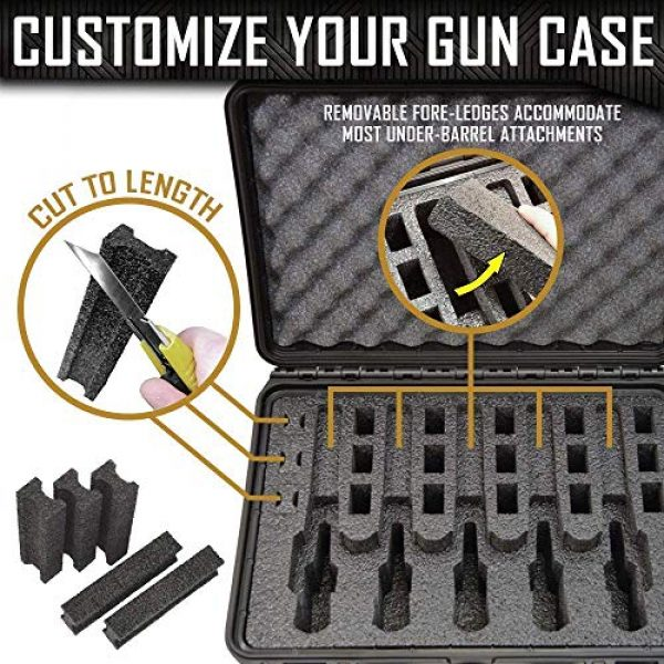 MY CASE BUILDER Pistol Case 2 Pistol & Magazine Storage Foam Insert for Apache 4800 Case - 2 Piece Set - Pre-Cut Military Grade Polyethylene Base and Protective Lid Liner (Case Not Included)