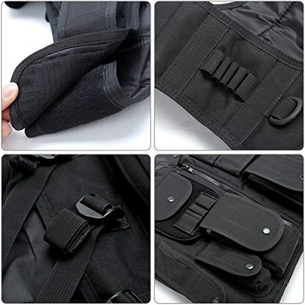 TongBF Airsoft Tactical Vest 6 TongBF Tactical Outdoor Military CS Field Vest Ultra-Light Breathable Combat Training Adjustable Vest