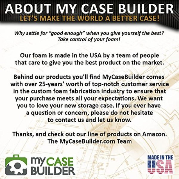 MY CASE BUILDER Pistol Case 6 Pistol & Magazine Storage Foam Insert for Pelican P-1500 Case -2 Piece Set Pre-Cut Military Grade Polyethylene Foam Base Insert and Lid Liner (Case Not Included)