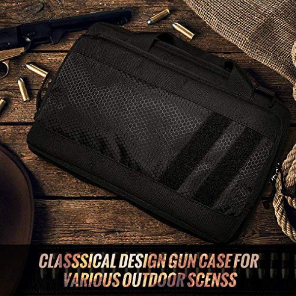 Sucipi Pistol Case 7 Sucipi Gun Case Soft Tactical Pistol Bag Hunting Shooting Range Bag Gun Bag for 2 Handguns and 9mm Ammo with Lock