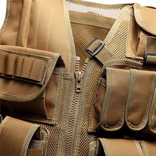 MR.CHAOS Airsoft Tactical Vest 5 MR.CHAOS Tactical Vest Combat Training Vest Adjustable Outdoor Breathable Mesh Fabric CS Combat Equipment