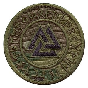 LEGEEON Airsoft Morale Patch 1 LEGEEON Multicam Valknut Viking Norse Runic Heathen Pagan Odin God Rune Morale Tactical Fastener Patch