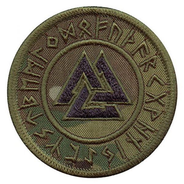 LEGEEON Airsoft Morale Patch 1 LEGEEON Multicam Valknut Viking Norse Runic Heathen Pagan Odin God Rune Morale Tactical Fastener Patch