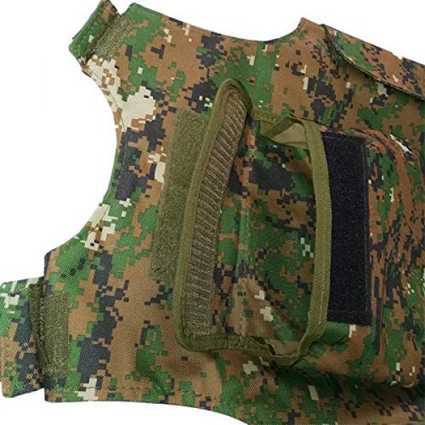 BGJ Airsoft Tactical Vest 5 BGJ Military Kids Camouflage Hunting Clothes CS Combat Equipment Tactical Army Vest Children Cosplay Costume Airsoft Sniper Uniform