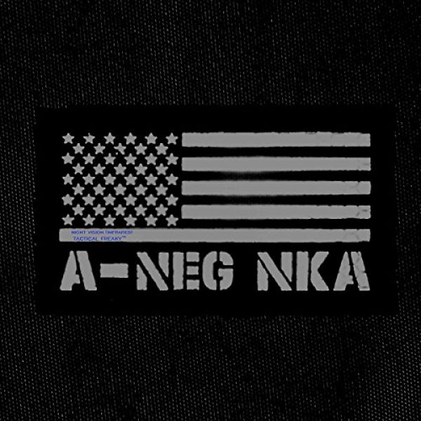 Tactical Freaky Airsoft Morale Patch 2 IR Multicam USA Flag ANEG A- Blood Type NKA NKDA Infrared Tactical Morale Fastener Patch