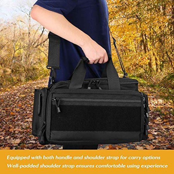 ProCase Pistol Case 6 ProCase Tactical Gun Range Bag Pistol Shooting Duffle Bag Bundle with Tactical Pistol Mag Pouch -Black