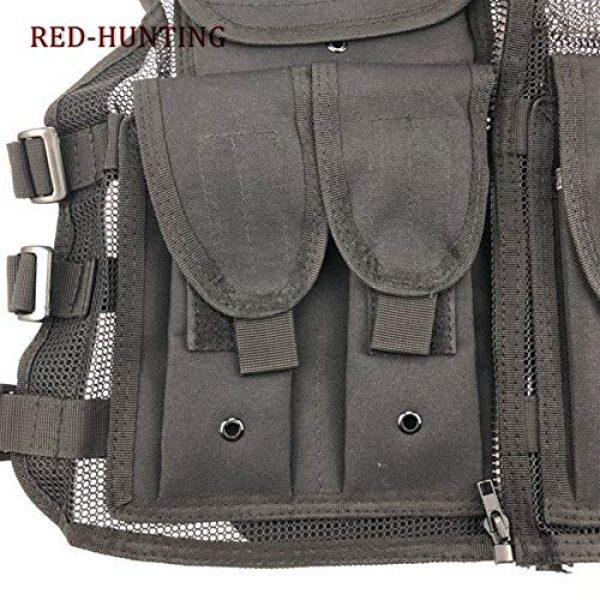 Shefure Airsoft Tactical Vest 6 Shefure New Adjustable Tactical Combat Training Vest Lightweight Mesh Tactical Breathable Vest Black