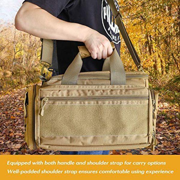 ProCase Pistol Case 7 ProCase Tactical Gun Range Bag Pistol Shooting Duffle Bag, Deluxe Padded Shooting Range Bag Large Handguns Magazine Ammo Gear Accessories Pouch for Hunting Shooting Range Sport -Khaki