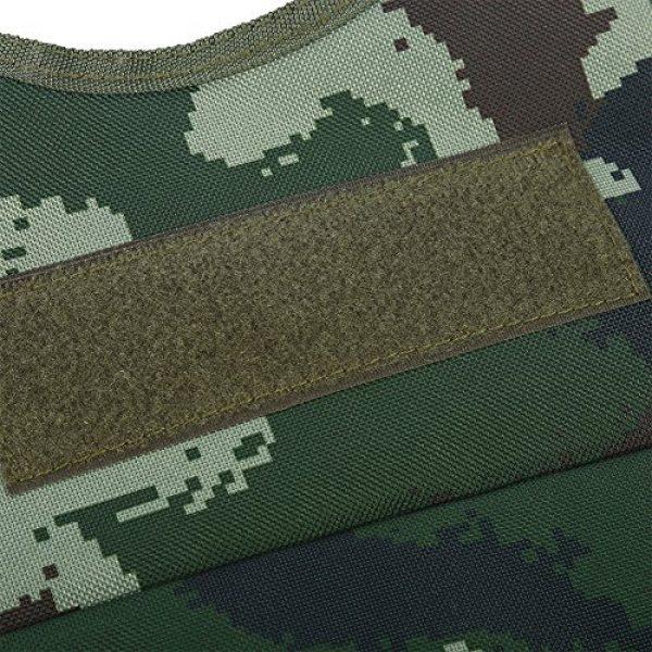 Fishlor Airsoft Tactical Vest 4 Fishlor Adjustable Camouflage Vest, Children Camouflage V-Neckline Vest with Multi Pocket for Outdoor Hunting Game(Jungle Camouflage L)