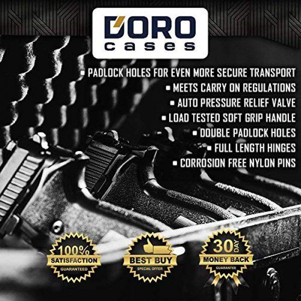 MY CASE BUILDER Pistol Case 4 1 Pistol 2 Magazine + Accessory Medium Duty Lightweight Waterproof Single Gun Sport Case - Doro Cases with Custom Mycasebuilder Foam Insert