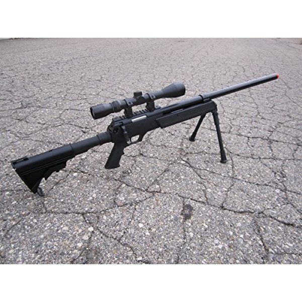 Well Airsoft Rifle 2 Well SPEC-OPS MB13A APS SR-2 Bolt Action Sniper Rifle Airsoft Gun (Black/Scope & Bipod Package)