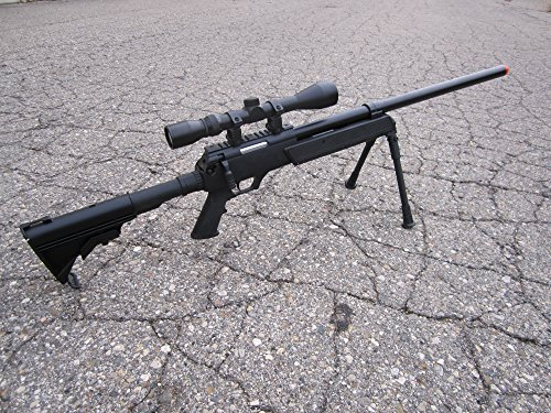 Well  2 Well SPEC-OPS MB13A APS SR-2 Bolt Action Sniper Rifle Airsoft Gun (Black/Scope & Bipod Package)