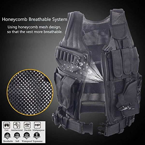 TongBF Airsoft Tactical Vest 7 TongBF Tactical Outdoor Military CS Field Vest Ultra-Light Breathable Combat Training Adjustable Vest