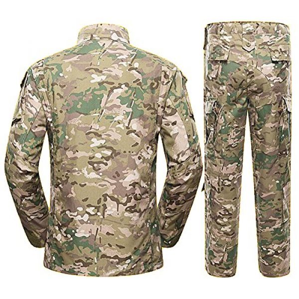 H World Shopping Tactical Shirt 3 Men Tactical BDU Combat Uniform Jacket Shirt & Pants Suit for Army Military Airsoft Paintball Hunting Shooting War Game Multicam MC