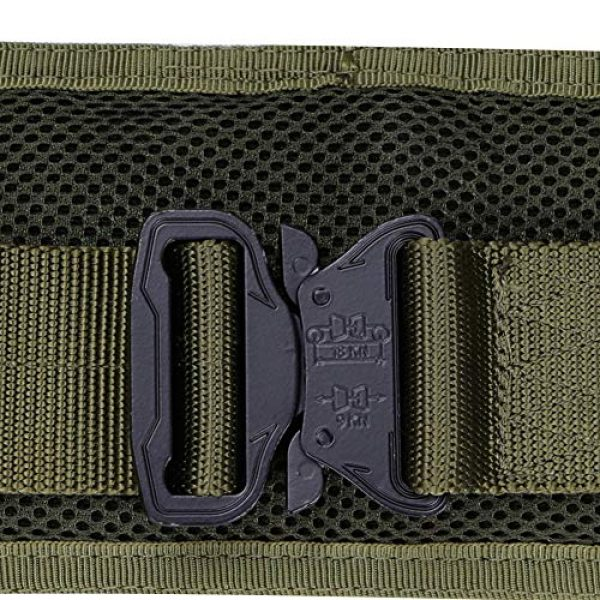 OAREA Airsoft Tactical Vest 6 OAREA MOLLE Tactical Belt Men's Army 1000D Nylon Ultra-Wide Tactical Quick Release Breathable Multi-Functional Belt Adjustable Soft Padded