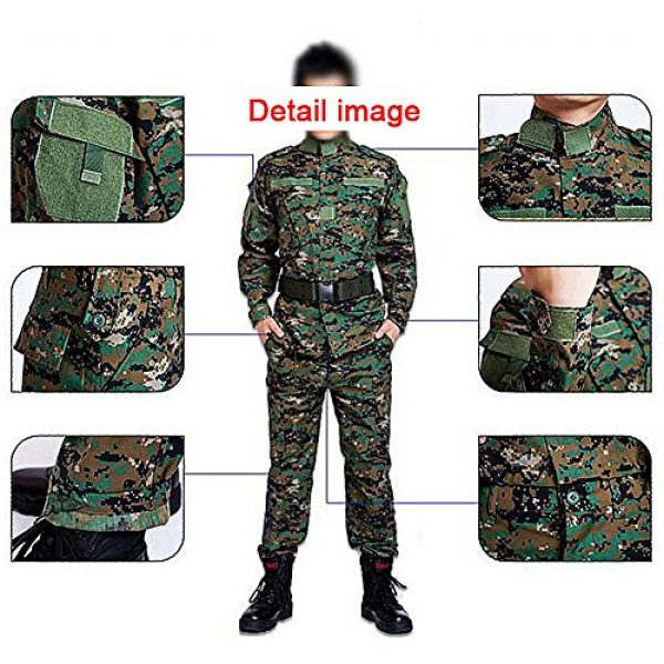 H World Shopping Tactical Shirt 4 Men Tactical BDU Combat Uniform Jacket Shirt & Pants Suit for Army Military Airsoft Paintball Hunting Shooting War Game Multicam MC