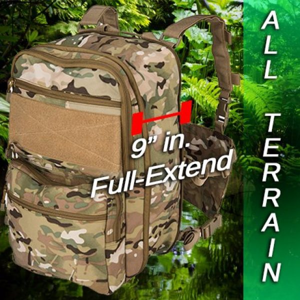 Lancer Tactical Airsoft Tactical Vest 2 Lancer Tactical 1000D Nylon QD Chest Rig and Backpack Combo (CAMO)