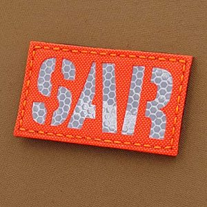 Tactical Freaky  1 Hi Viz Solas Blaze Orange SAR 2x3.5 CSAR Combat Search and Rescue Tactical Morale Hook-and-Loop Patch
