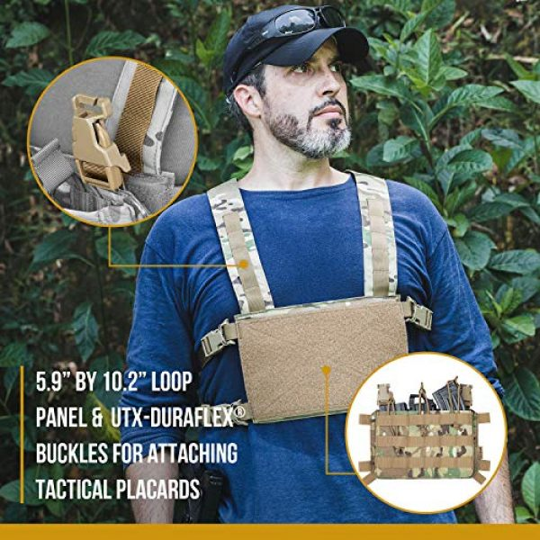 OneTigris Airsoft Tactical Vest 3 OneTigris Chest Rig Tactical Panel Placard Adapter (Multicam)